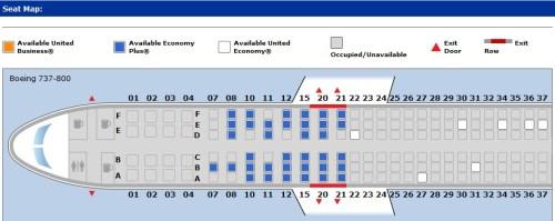 UA EWR-BOG Seatmap
