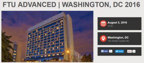 FTU Advanced Washington DC 2016