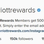 500 Marriott Points for a Social Media Follow