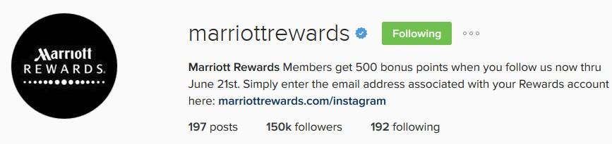 Marriott Instagram