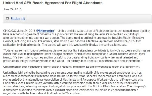 United AFA Press Release
