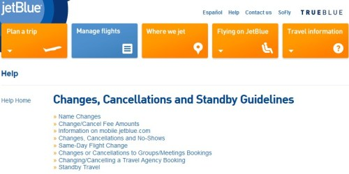 JetBlue Changes