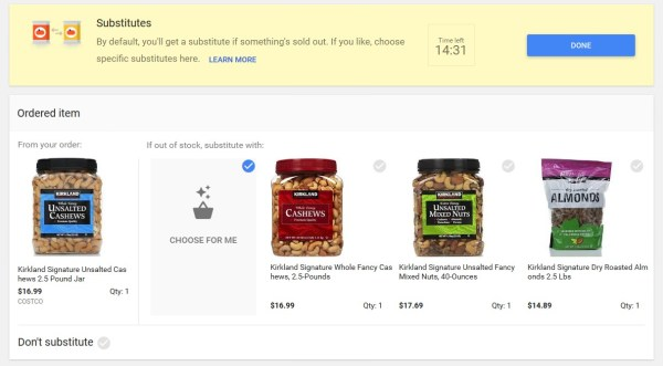 google-express-product-substitutes