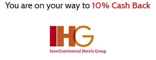 Mr Rebates IHG Cashback