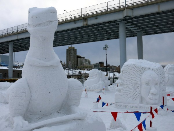 Fur Rondy Snow Sculpture