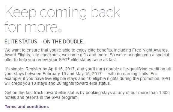 SPG Select Member Exclusive Q12017