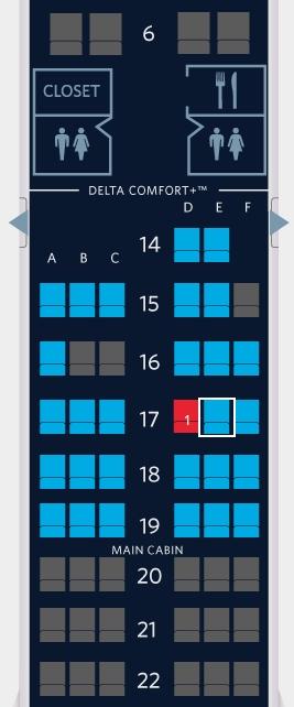 Delta Award Ticket Seat Map