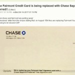 So Long Chase Fairmont Card, Chase Force Converting to Chase Sapphire Preferred