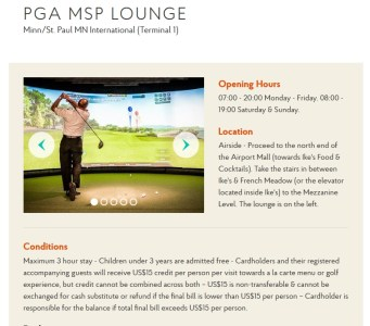 Priority Pass PGA MSP Lounge