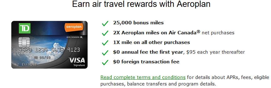 TD Aeroplan Card