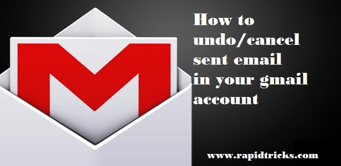 how to undo sent mail