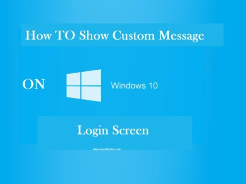 Show Custom Message On Win 10 Login Screen