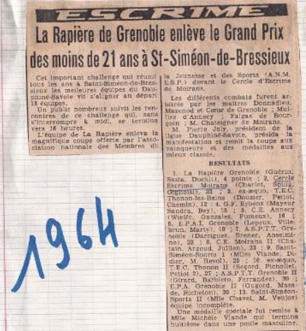 La Rapière de Grenoble enlève le Grand Prix des moins de 21 ans