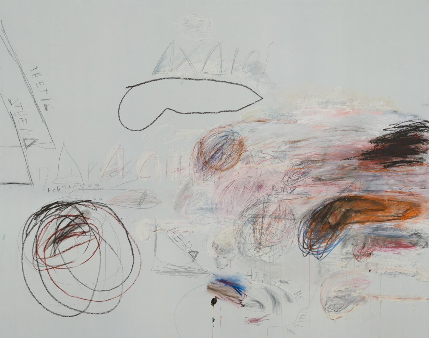 Cy Twombly, Fifty Days at Iliam: Achaeans in Battle