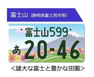 図柄入り富士山ナンバー