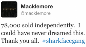 Why rapper Macklemore's indie rise is a simple white lie entertainment macklemorevibe tweet 300x165