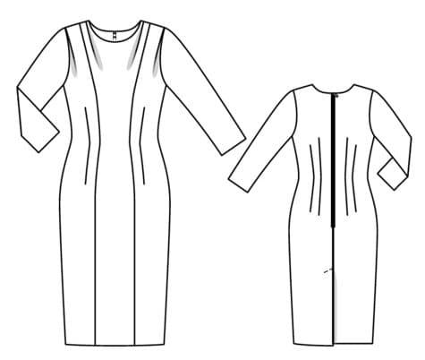 φορεμα ρετρο του 1957, πατρον burda για κομψο θηλυκο φορεμα