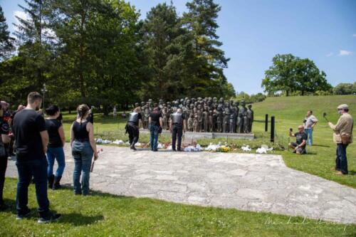 Uctění památky zavražděných v Lidicích nacistickým Německem Noční vlci Evropa MC a přátelé 13.6.2020