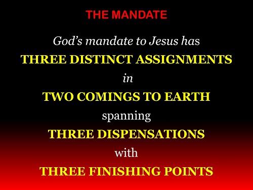 MANDATE OF JESUS