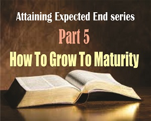 ATTAINING EXPECTED END Part 5: How To Grow To Maturity