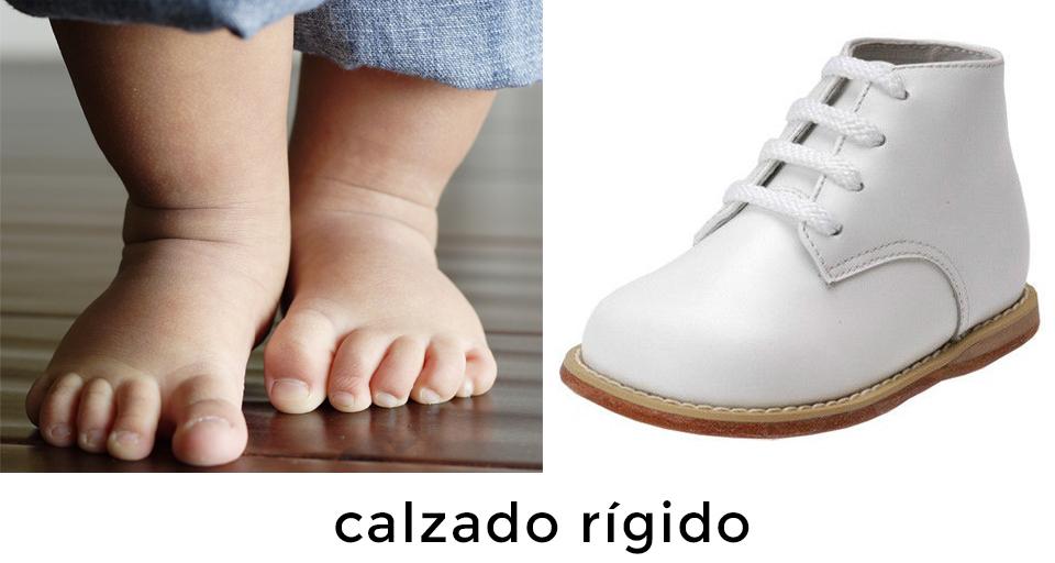zapato rígido en bebés
