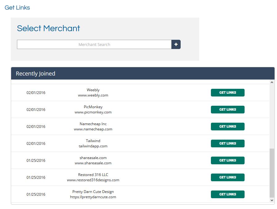 ShareASale - Merchant Links