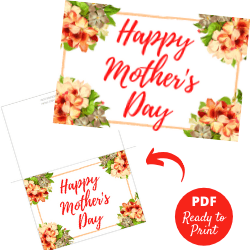Free Printable Mother's Day Card - Featured Image
