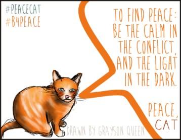 #peacecat, PeaceCat, Bloggers4Peace, B4Peace, Grayson Queen, Rarasaur
