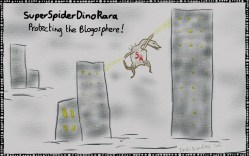 """SuperSpiderDinoRara"" – An Official DraliDoodle by Draliman (http://dralimanonlife.com/)"