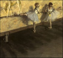 Edgar Degas - Dancers (and a unicorn) Practicing at the Barre