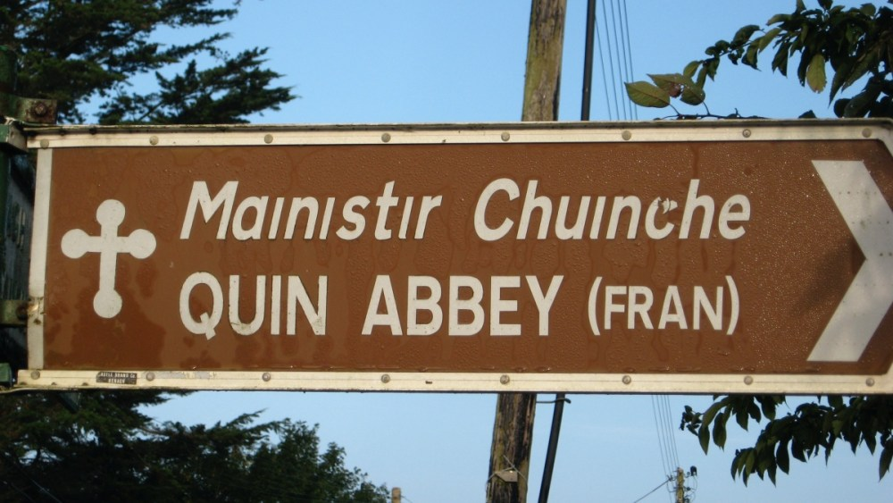 Quin Abbey sign