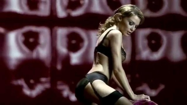 Kylie Minogue in 'Proof', a 2001 advert for Agent Provocateur
