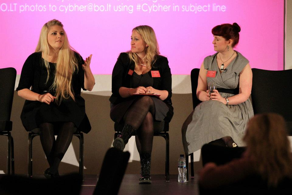 The feminism panel at Cybher 2012