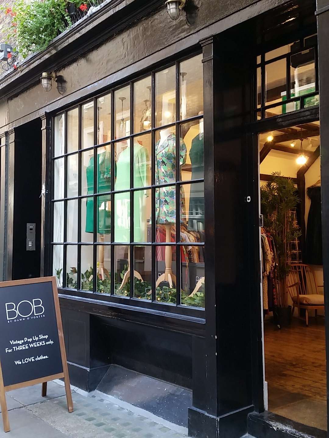 The BOB by Dawn O'Porter pop-up shop on Newburgh Street