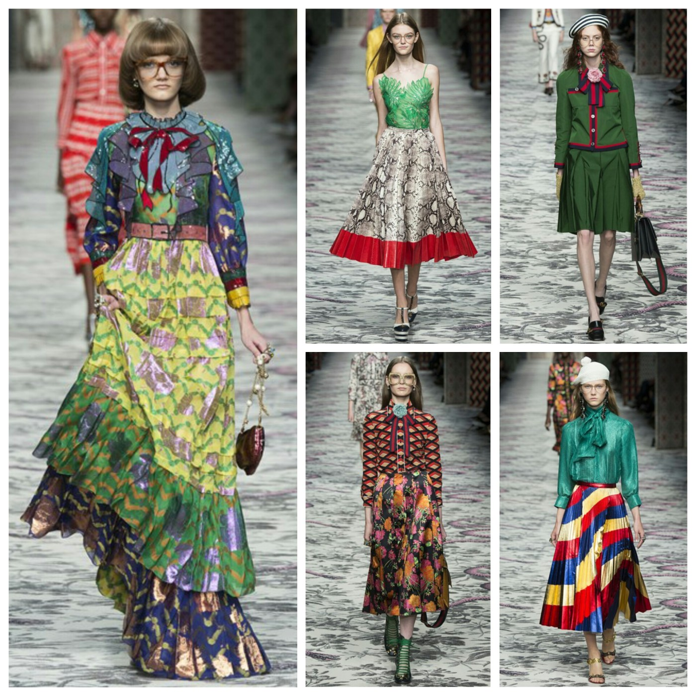 Outfits from the Gucci Spring '16 catwalk, via Vogue.com