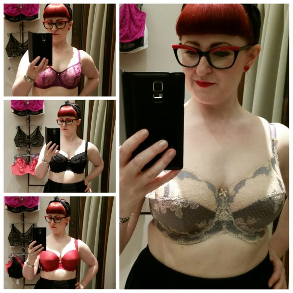 The AW16 bras Lori tried on at the Selfridges Body Studio