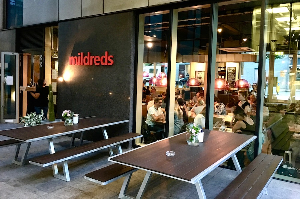 Image of Mildreds King's Cross via ldnveggieburger.com