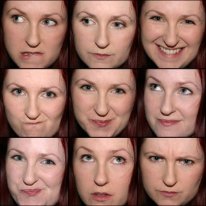 A montage of Lori's expressions, from 2008