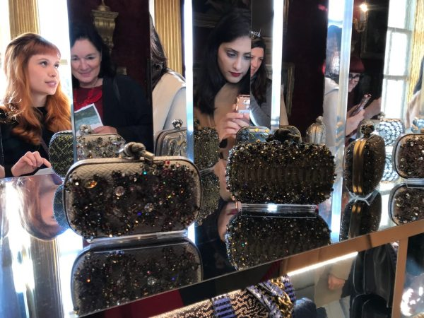 Bottega Veneta clutch bags displayed like precious jewels