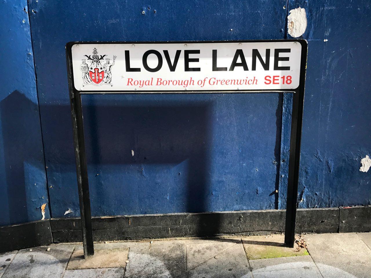 Love Lane in Woolwich, London