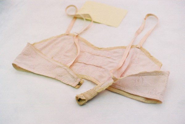 A bra from the London College of Fashion Archives. Photography by Francesca Tye.