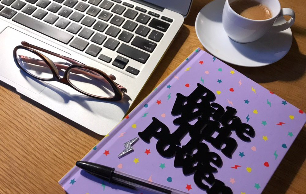 Laptop and Tatty Devine notebook