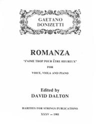 Donizetti, Gaetano (Dalton)Romanza for Voice, Viola & Piano