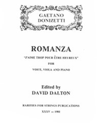 Donizetti, Gaetano (Dalton)Romanza  for Voice, Viola & Piano (PDF Download)