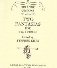 Gibbons, OrlandoTwo Fantasias for Two Violas