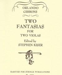 Gibbons, Orlando - Two Fantasias for Two Violas - Cover