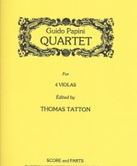 Papini, Guido (Tatton)Quartet for Four Violas(Score and Parts)(PDF Download)