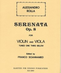 Rolla, Alessandro (Sciannameo)Serenata Op. 8, No. 1 for Violin & Viola(PDF Download)