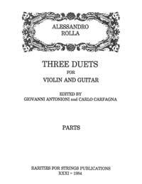 Rolla, AlessandroThree Duets for Violin & Guitar(Parts)