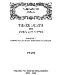 Rolla, AlessandroThree Duets for Violin & Guitar(Parts)
